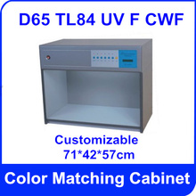 Free Shipping Color Matching Cabinet 5 light sources: D65 TL84 UV F CWF  Size:71*42*57cm  AC110V Customizable  Color Assessment
