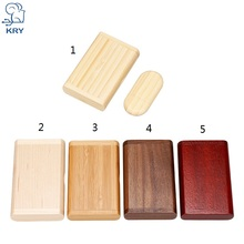 KRY (more than 10 customizable LOGO) laser engraving wood U disk pen drive 4GB 8GB 16GB 32GB 64GB wedding gift Free Shipping(China)
