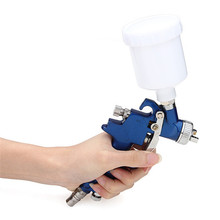 NewThe Lowest Price Blue Gravity Feed HVLP Mini Air Paint Spray Gun Low Pressure 0.8mm Nozzle 125ml High Quality