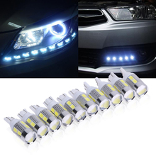 Super Bright 10X led t10 Led Light Bars for 5630 10smd Light t10  W5W Canbus N0 Error 12V led Bulbs Indicator Light