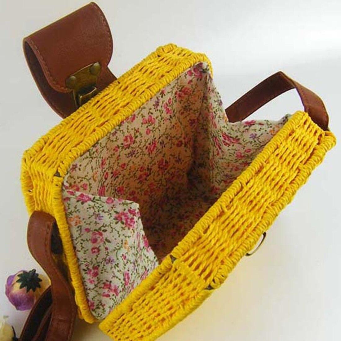 women's handbags mini women messenger bags leather Square Straw ladies Crossbody Bag shoulder bags summer bolsa feminina 2018