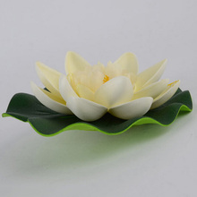 1Pcs Floating Artificial Lotus Ornament for Aquarium Fish Tank Pond Water lily Lotus Artificial Flowers Home Decoration(China)