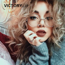 VictoryLip Hot Round Glasses Men Women Metal Frame Clear Lens Transparent Harry Potter Eyewear Retro Female Optics Eyeglasses