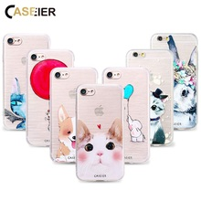 CASEIER Cute Cat Dog Case For For Samsung Galaxy S6 S7 Edge S8 S8 Plus Note 8 Soft TPU Ultra-thin Lovely Animal Cover Cases Capa(China)