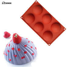 SHENHONG Rotating Silicone Cake Hemisphere Chocolate Mold 3D Mould Mousse Moule Pastry Art Baking Pan Bakeware Dessert(China)