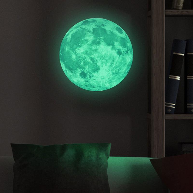 HTB1HcEBigvD8KJjSsplq6yIEFXad - Glow Star Moon Wall Stickers Luminous Moon Glow in the Dark For Kids Rooms