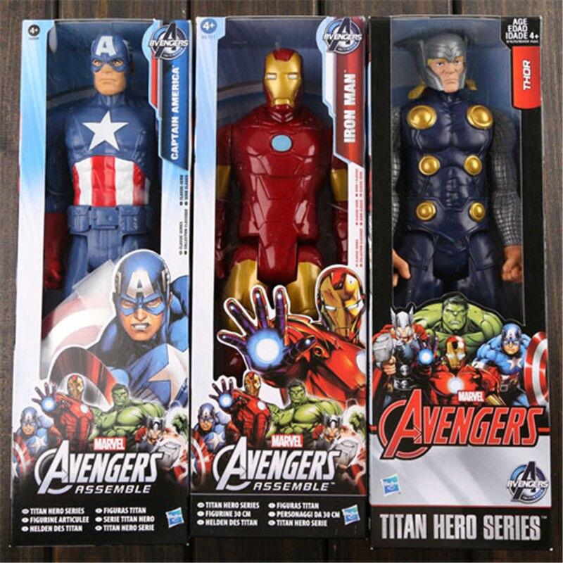 Captain America Ironman Thor Toy 30cm / 12inch Plastic Super Hero Figure Kids Toys Anime Brinquedos<br><br>Aliexpress