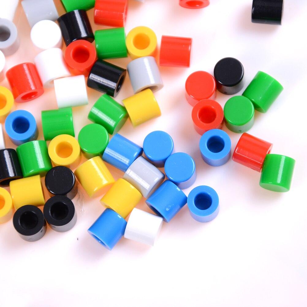 50Pcs Push-botton Cap for 6x6mm Momentary Tactile Switches Key Caps BlER