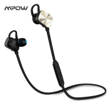 Mpow Wireless headphone Bluetooth 4.1 In-Ear Headset with Remote control & Microphone Stereo Sports Metal Headphones earphone(China)