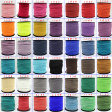 2mm 3mm 5mm 7mm Flat Faux Suede Korean Velvet Leather Cord string Rope Thread Jewelry Lace Findings