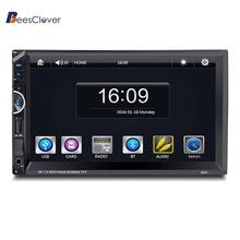 BEESCLOVER 7 Inch Touch LED Screen Car GPS Navigation /Bluetooth/SD/Aux Line-in/MP5 Radio/USB/AM/FM HD digital touchscreen r18(China)