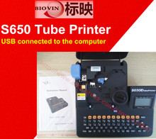 USB connected to the computer Tube Printer cable marker ID printer English keyboard electronic lettering machine S650
