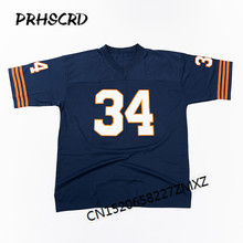 Retro star #34 Walter Payton Embroidered Throwback Football Jersey(China)