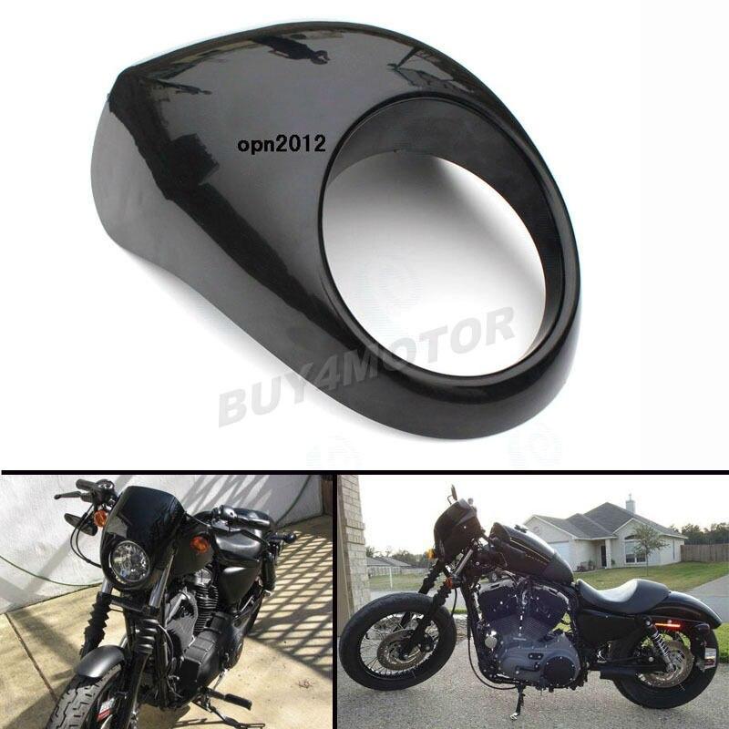 Motorcycle Bright Black Headlight Front Visor Fairing Cool Mask Bezel Cover For Harley Dyna Sportster FX XL #3401<br><br>Aliexpress