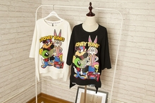 Free Shipping fashion cartoon bugs bunny looney tunes rabbit short-sleeve woman t-shirt(China)