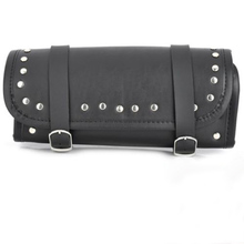 Cool Motorcycle ATV Scooter Faux Leather Saddle Mount Studs Bag Black Storage Auto Accessories New Arrival