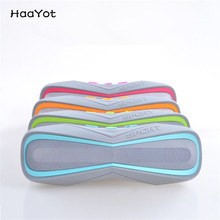 HAAYOT Waterproof Bluetooth Speaker Portable IPX7 Outdoor Stereo Speaker Bike 2017 With TF Card Play Handsfree MP3 Player Mic(China)
