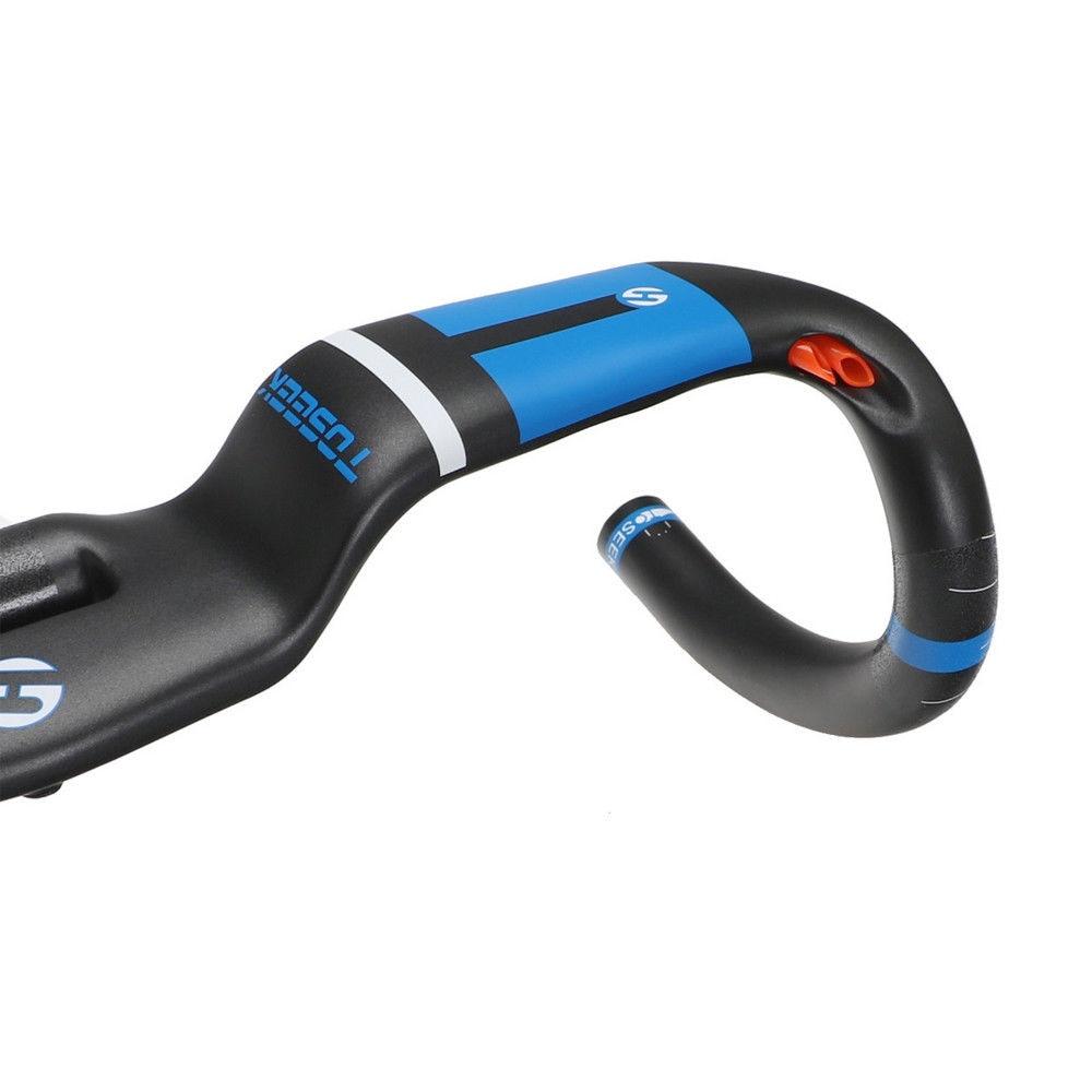 TOSEEK FULL Carbon AERO Handlebar Uplift Style For Racing Road Bike Light Weight