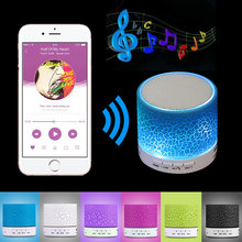 A9 Mini Wireless Bluetooth Speaker W/ LED Hands Free TF USB Subwoofer Loudspeakers Portable 3.5mm MP3 Stereo Audio Music Player(China)
