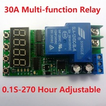 IO23C01_12V DC 12V 30A Multifunction Timer Delay Relay Module High Power On/Off Adjustable for PLC Motor LED Car(China)