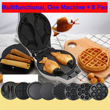 Free ship electric waffle maker portable egg waffle maker 220v mini multifunctional breakfast maker octopus meatball machine