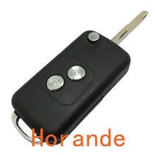 Remote Folding Flip Key Case For Peugeot 206 For citroen c3 c2 2 Button Remote Control Key Blank fob selling  free shipping
