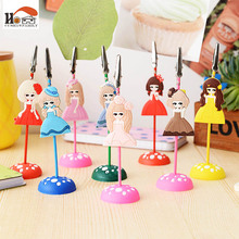 CUSHAWFAMILY Mini cute silicone desktop figurines message note clip to clip pictures photo holder Home decor Arts crafts gifts