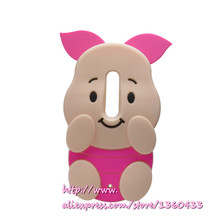 Soft silicone phone cover case For Motorola Moto X Play 3D cute cartoon rose red big ears pig