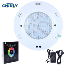 DC12V 16W RGBW Wall hang LED Pool Lights underwater lights IP68 Waterproof+RGBW LED Touch Panel Controller+Adapter(China)