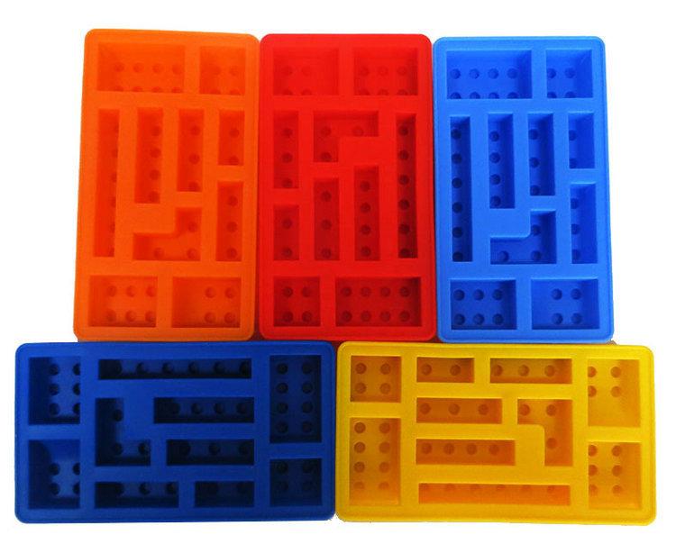 Neue 10 Locher Lego Ziegel Blocke Formigen Rechteckigen Diy Schokolade Silikonform Eiswurfelschale Kuchen Werkzeuge Fondant Formen
