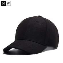 High Quality Solid Winter Baseball Cap Men Bone Trucker Hat Gorras Planas Snapback Hip Hop Dad Cap For Winter Size 55-60cm(China)