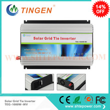 48v solar on grid connected inverter 1000w 1kw dc to ac output 90-130v 190-260v pure sine wave(China)
