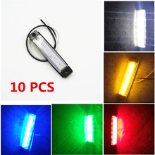 CYAN SOIL BAY 10pcs 6LED Red White Green Blue Yellow Amber 6 LED Clearence Truck Bus Trailer Side Marker Indicators Light Lamp(China)