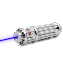 oxlasers OX-BX1 GATLING STYLE  1000mW -4000mw handheld focusable burning Blue laser pointer torch with 5 caps  free shipping