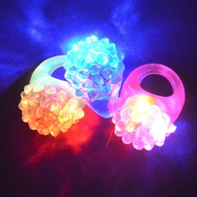 2018 LED Flashing Ring Blinking Soft Light Up Rave Jelly Finger Rings Children's Day Gift Toy Glow Party Christmas New Year(China)