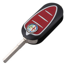 3 Buttons Remote Car Key Case for Alfa Mito Giulietta GTO 159 Automotive Key Case Fob Car Key Shell ROMEO Red Button(China)