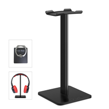 New Bee Fashion Display Headphone Stand Headset Holder Earphone Bracket Earbud Hanger Metal and Soft TUP for Headphone Black(China)