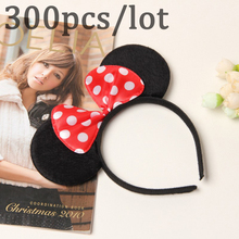 300pcs Birthday Party Minnie Mouse Hair Accessories kids Favors Ears Solid Headband Girl Headwear Wedding Celebration Supplies