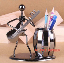 Popular Creative metal Pen holder Vase Pencil Pot Stationery Desk Tidy Container office stationery supplier business craft Gift(China)
