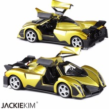 New arrival 1:32 kids toys Devel 16 Cool metal toy cars model with music pull back car miniatures gifts toys for boys(China)