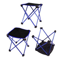 Hot sale Outdoor Portable Folding Camping Hiking Fishing Picnic BBQ Stool Chair ultra light durable aluminum alloy Oxford Fabric(China)
