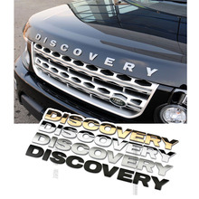 Discovery Ho Letters 3D Metal Car Auto Emblem Bonnet Sticker Badge Chrome Gold Black Hood for Land Rover Discovery Car-Styling
