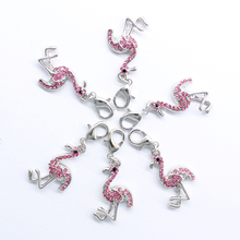 Chang hai zuix sweet romantic flamingos lobster clasp altstadt stone DIY classic pendant jewelry products free shipping DZ - 182(China)