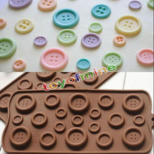 Button shape Fondant Cake Molds 3D Silicone Soap Chocolate Candy Decorative baking Bakeware kitchen accessories PJDY