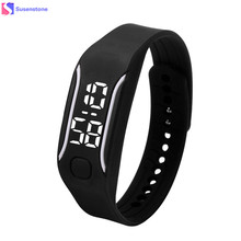 Fashion LED Digital Sport Watches Silicone Rubber Running Watch Date Time Men Women Unisex Bracelet Wrist Watches Cheap Price(China)