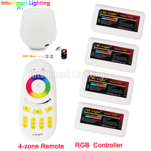 2.4G 4-Zone 4 groups remote control + Mi light led wifi controller + 4x led RGB controller(China)