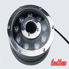 Free shipping DC12V AC220V 9W OR 12W LED Fountain Swimming Pool lamp 85~100LM/W IP68 RGB Underwater light