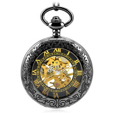 Top-quality multi-functional tungsten steel pocket watch ancient mechanical pocket watchmagnifying glass fuction watch