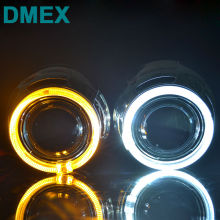 DMEX Q5 Perfect D2S Car HID Projector lens with Angel eyes 3.0 inch Bi Xenon projector lens Fit for H4-3 Car Light(China)