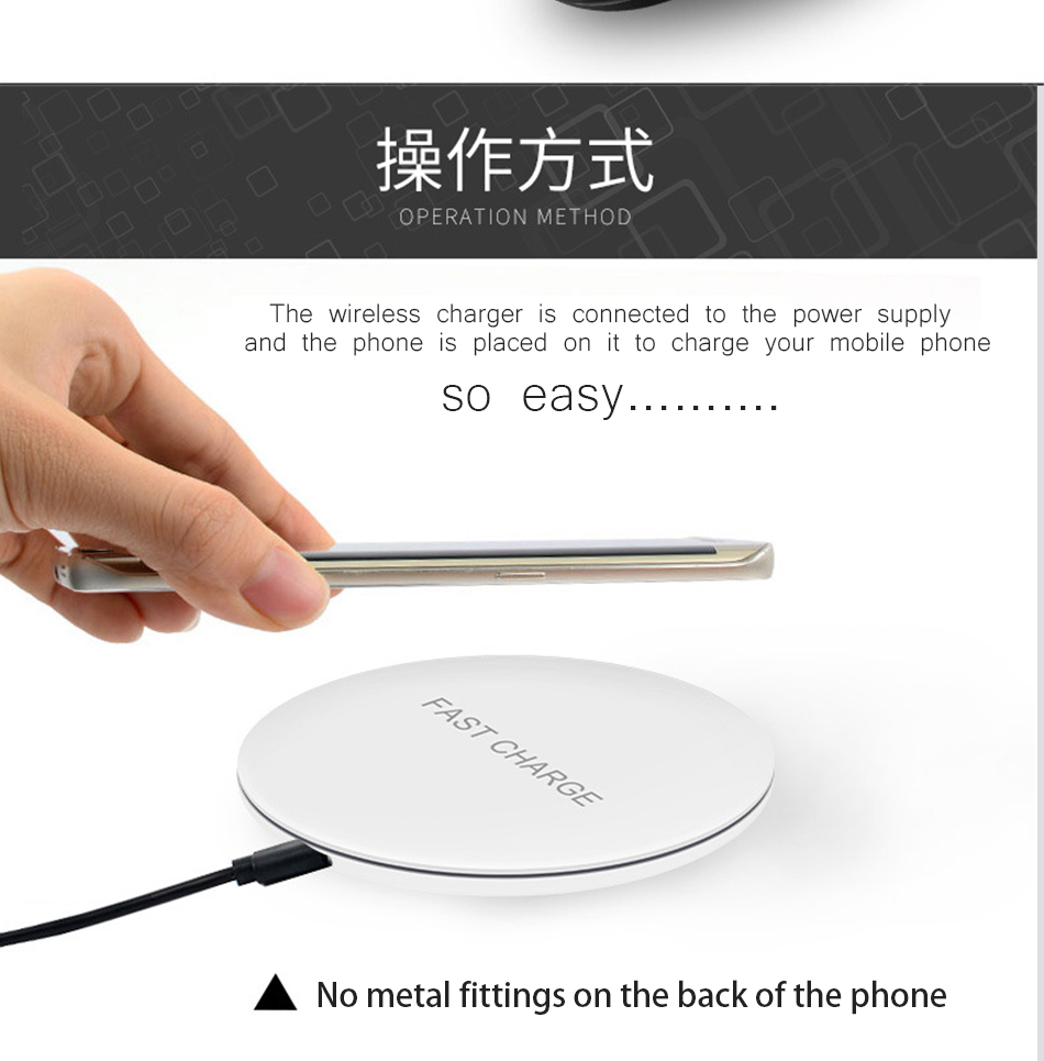 Qi iGEEKER Original for iphone8 Wireless Charger Charging Pad for iPhone x  8plus for Samsung Galaxy S8 Google Nexus 4/5 note8